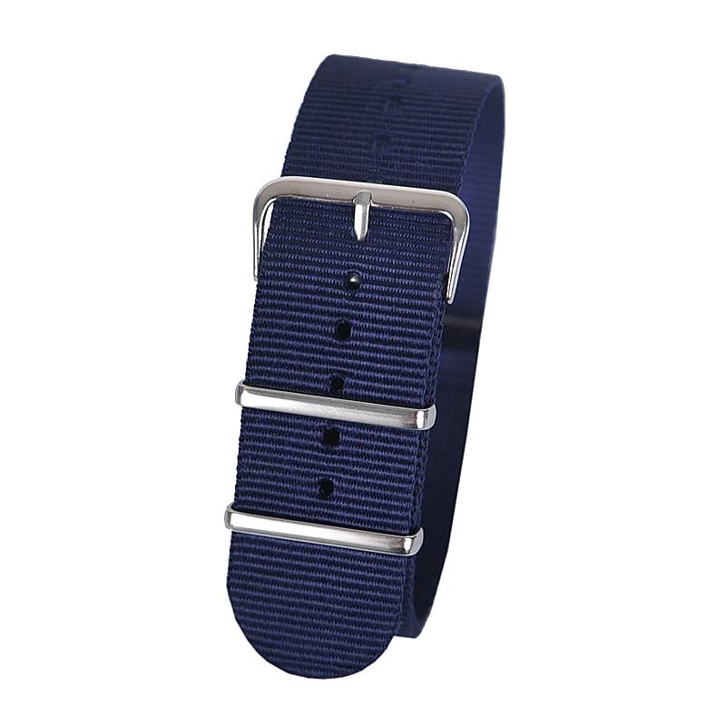 24mm dark blue Sport nato fabric watch band straps accessories Bands nylon watchband steel Buckle belt napapijri guji check dark blue