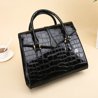 Women's Bag Classic Crocodile Pattern Handbag For Women PU Leather Hand Bag Ladies Shoulder Bags NI002