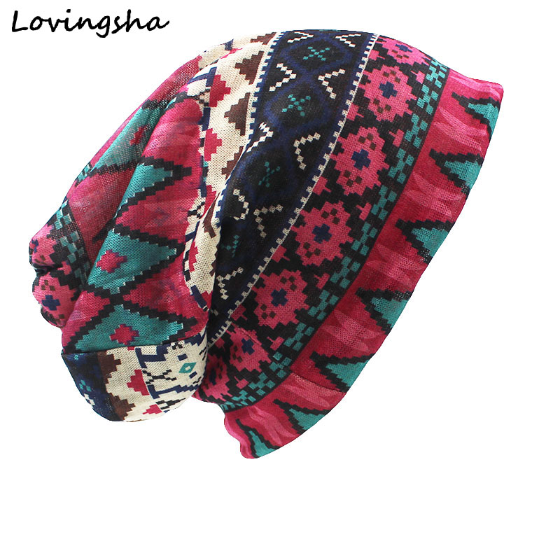LOVINGSHA Brand Autumn And Winter Dual-use Hats For Ladies thin Vintage Design   Skullies   And   Beanies   Women Scarf Face Mask HT014