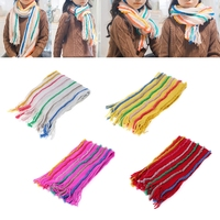 Fashion Woolen Children Scarf Cute Colorful Warm Winter Soft Shawl Wrap For Kids Clothes Accessory