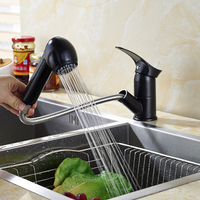 Newly Product Oil Rubbed Bronze Deck Mounted Pull Out Dual Functions Sprayer Kitchen Faucet