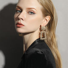 Fashion Statement Earrings 2019 Small Geometric earrings For Women Hanging Dangle Earrings Drop Earing modern Jewelry(China)