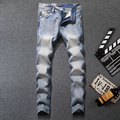 New Arrival Fashion Mens Light Blue Jeans Ripped Denim Casual Trousers Male High Quality Full Size Dsel Brand Jeans Men W981