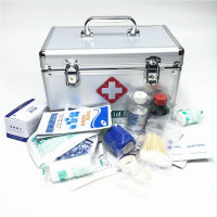 Lockable First Aid Box Security Lock Medicine Storage With Portable Handle Compartments Medication Small Cabinet Medium
