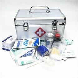 Abschließbar Erste Hilfe box Sicherheit Lock Medizin Lagerung mit Tragbare Griff Fächer Medikamente Kleine Schrank Medium