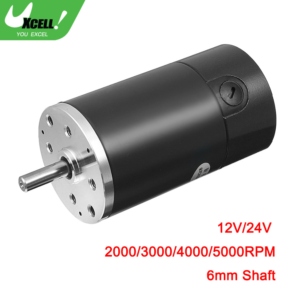 UXCELL Hot Sale 7W DC 12V/24V 2000/3000/4000/5000RPM CCW Replacement Electric Motor with 6mm Diameter Shaft