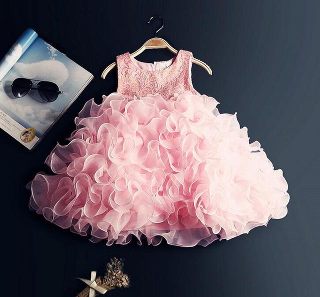 Adolescentes formales Niñas partido Vestidos Rosa niña ropa niños ...