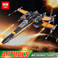 LEPIN 05004 Star Toys Wars The First Order 75102 X Wing Fighter Set Building Blocks Bricks Kids Toys Christmas Birthday Gifts