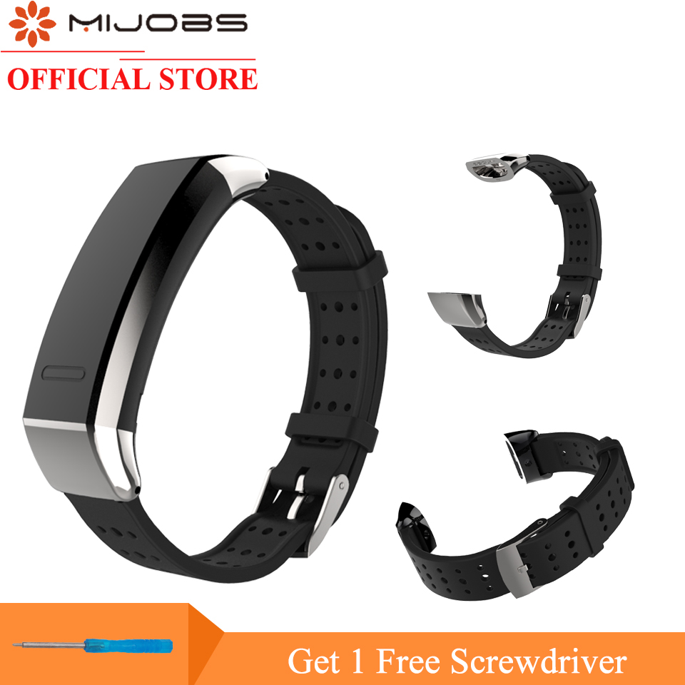 Mijobs Wrist Strap For Huawei Honor 3 Smart Watch Stainless Steel Buckle Wristbands Bracelet For Huawei Sport Band 2 Pro B19 B29