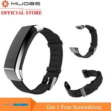 Купить с кэшбэком Mijobs Wrist Strap For Huawei Honor 3 Smart Watch Stainless Steel Buckle Wristbands Bracelet For Huawei Sport Band 2 Pro B19 B29