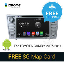 IOKONE Car DVD Player for  Toyota Camry 2007-2011 Radio GPS Navi with 3G Wifi Bluetooth  USB SD SWC Touch Screen Free Map