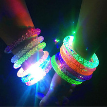 Multicolor LED Flashing Bracelet Light Up Acrylic Bangle for Party Bar Halloween Chiristmas Decoration Hot Dance
