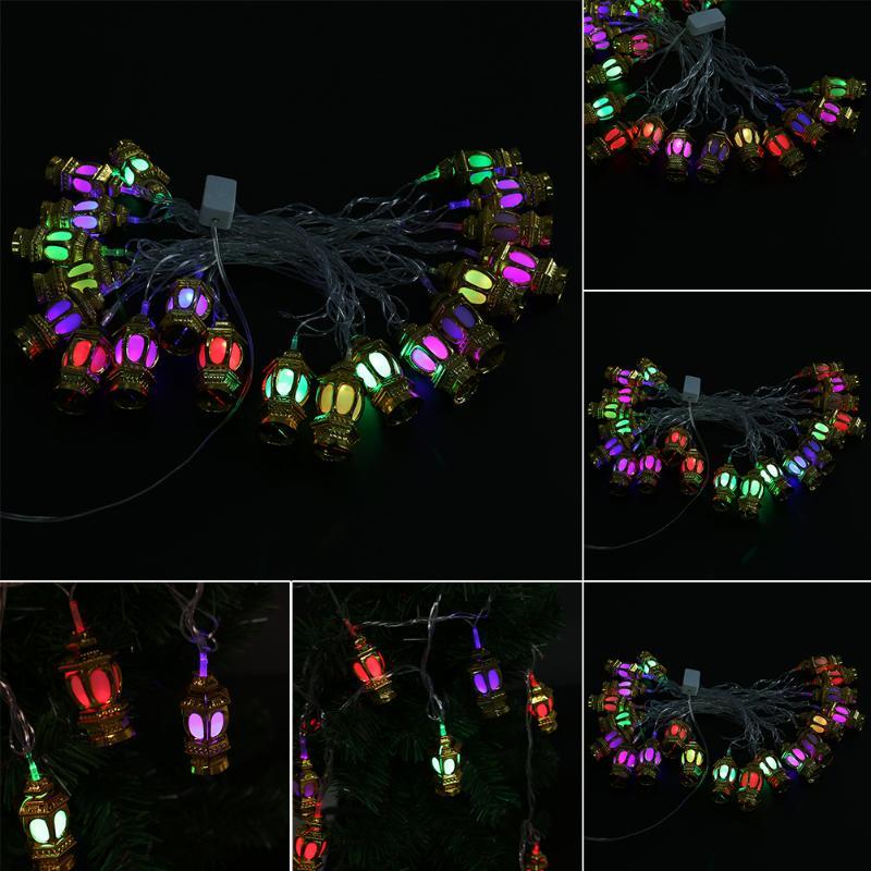 <font><b>EU</b></font> <font><b>Plug</b></font> 110v 20LED Lantern Shape Light Strip <font><b>LED</b></font> String Lights Christmas Halloween Festival Decoration Light <font><b>Lamp</b></font>