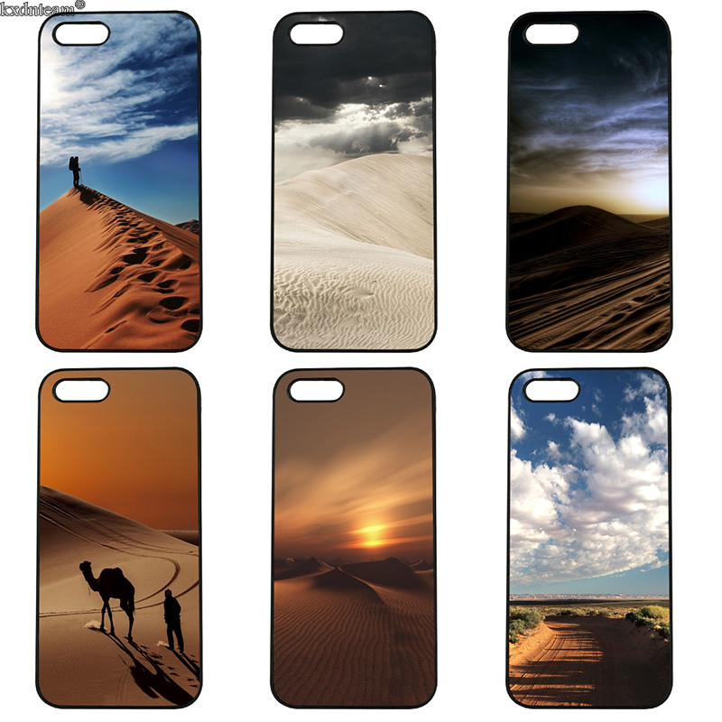 Hot Nature Landscape Desert Cell Phone Case Hard Plastic Cover for iphone 8 7 6 6S Plus X 5S 5C 5 SE 4 4S iPod Touch 4 5 6 Shell