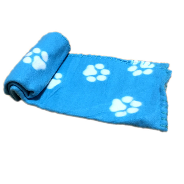 Lovely Pets Mat Soft Warm Fleece Paw Print Design Pet Puppy Dog Cat Mat Blanket Bed Sofa Pet Warm Product Cushion Cover Towel 5