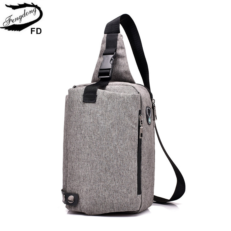 FengDong anti theft shoulder bags for men small chest bag pack fashion 2018 boy sling bag male travel cross body bags wholesale fashion men s multifunctional cross body chest bags small travel messenger bags mini chest pack mobile bag p750616
