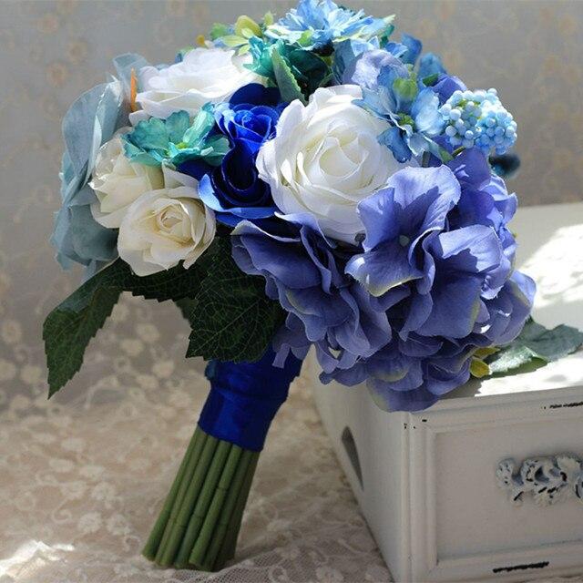 Artificial Flowers wedding bouquet mariage demoiselle d'honneur bouquet de mariage noir et ivoir buque de noiva com perolas