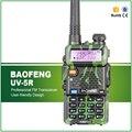 Oliver verde baofeng uv-5r dual band vhf uhf portátil transceptor de rádio com fone de ouvido militar