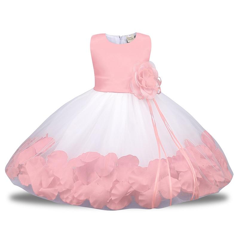 Tüll Puffy Blume Mädchen Hochzeiten Geburtstag Kleid Rot Rosa Ballkleid Weiß Für Outfit 1st Kommunion Party Baby Taufe fmvb67yIYg