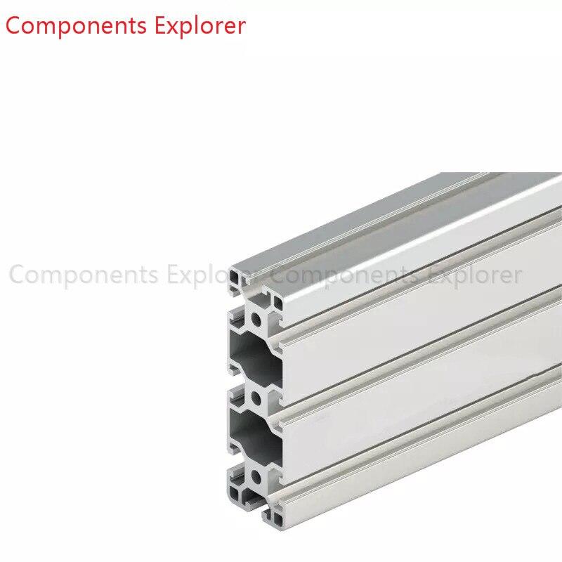 Arbitraria di Taglio 1000mm 40120 Profilo Estruso di Alluminio, di Colore Argenteo.