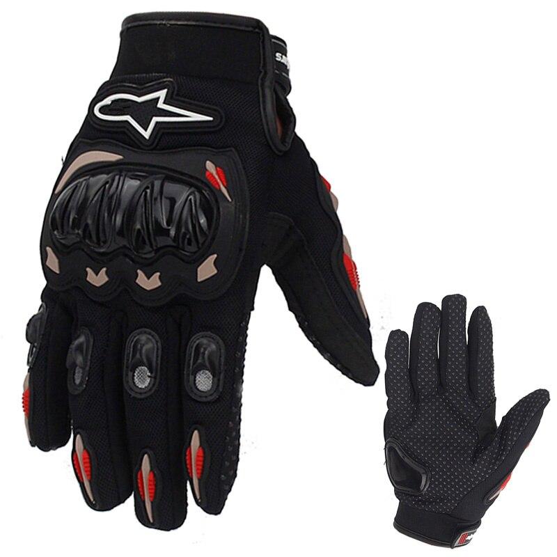 Hot Sale Full Finger Motorcycle Gloves Motocross Orange Color Moto Protective Gears Glove For Men M