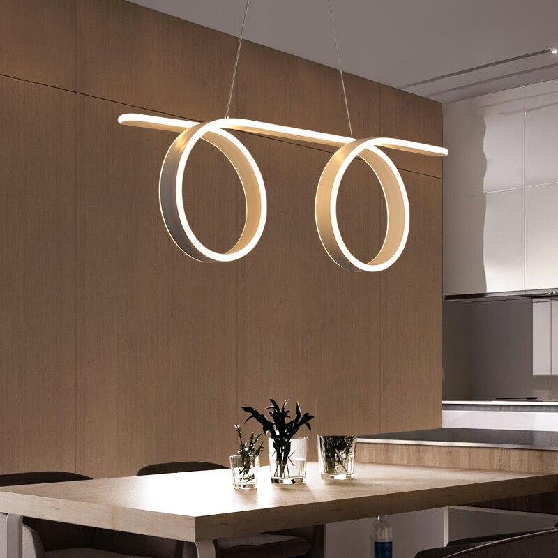 Новый современный Led блеск подвесные светильники для Гостиная Обеденная бар Кухня подвесной светильник Hanglamp Lampen