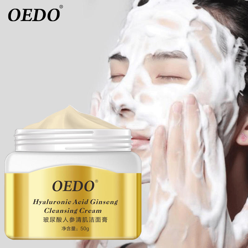 OEDO Face Skin Care Facial Pore Cleanser Hyaluronic Acid Ginseng Cleansing Acne Treatment Face Washing Product Foam image