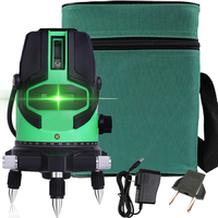 NEW 5 laser lines 6 points 360 degrees rotary 635nm auto level green Laser Level with outdoor mode Tilt Mode