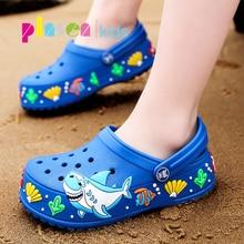 PINSEN/Новинка г.; модная детская обувь для сада; детские летние тапочки с героями мультфильмов; высокое качество; детская обувь для сада; сабо для мальчиков