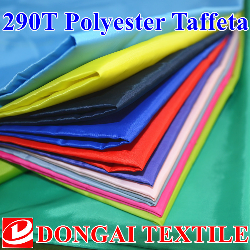 100cm*150cm 290T polyester taffeta lining fabric /lining fabric for Cotton-padded jacket