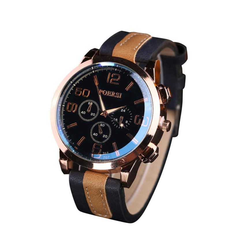 Fashion Men's Watch  Luxury Men's Watches Analog Quartz Faux Leather Sport Wrist Dress Watch relogio masculino hot sales#50 men watch luxury fashion faux leather mens blue ray glass quartz analog watches handsome relogio masculino feloj hombre m1