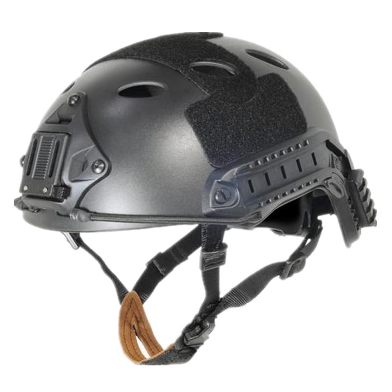 TACTICAL FAST Helmet PJ TYPE sports protective helmet black DE FG cycling Helmet ABS material M L tactical ballistic helmet high cut xp helmet sports cycling helmet abs material for airsoft paintbal black de fg m l