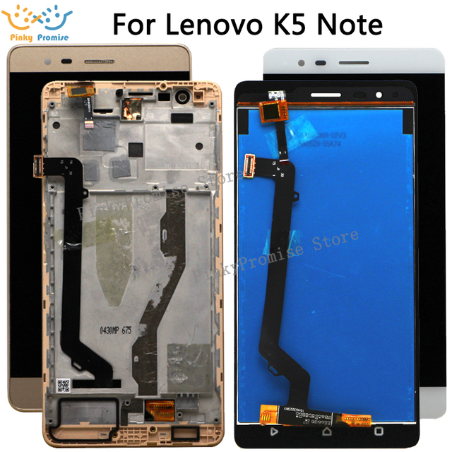 "5.5 ""LCD Per Lenovo Vibe K5 Nota Display Touch Screen con Cornice Per Lenovo K5 Nota Display A7020 LCD di ricambio"