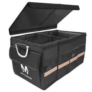 MICTUNING Car Trunk Super Strong Organizer Waterproof Collapsible & Portable Cargo Storage Box For Car SUV Jeep Trucks Box / Bag