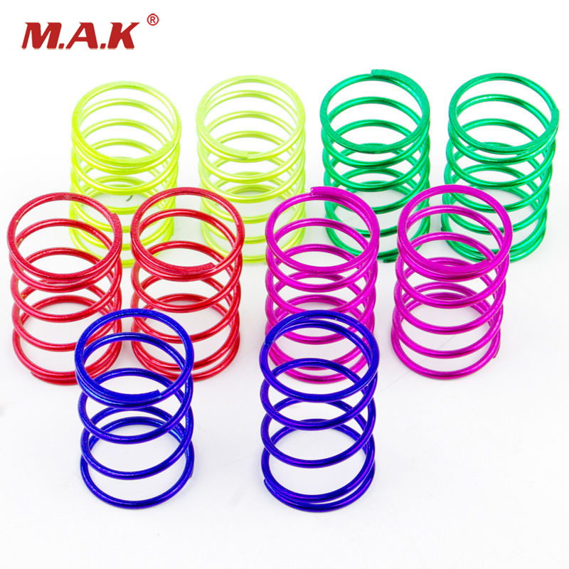 10Pcs/Set 1/10 RC Scale On Road Model Car Shock Absorber 25mm Long Spring 10PCS 00307 Remote Control Toy Model Car Accessories B 1 pair boom racing boomerang i type built in spring avoid damping brsi 0120b shock absorber for rc car free shipping
