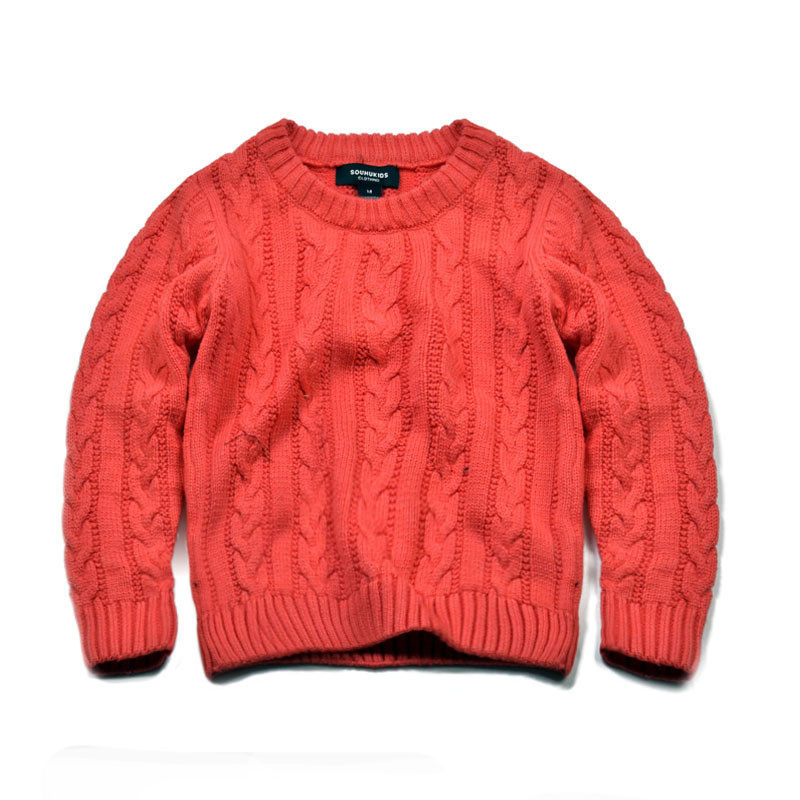 AutumnWinter 2016 New Arrival Children\'s Twist Knitted Sweater Kid Thicken Warm Sweater Long Sleeve O-Neck Baby Pullover CMB202 (4)