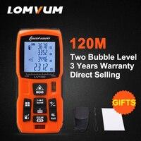 LOMVUM profesjonalne 120 M Dalmierze Laserowe zasilany baterią Automatyczne obliczanie Cyfrowy Miernik Laserowy Odległość dalmierz