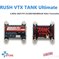 RUSH VTX TANK ultimate 5.8GHz 48CH PIT 25/200/500/800mW Video Transmitter Bulid in TBS Smartvideo For FPV Racing Drone