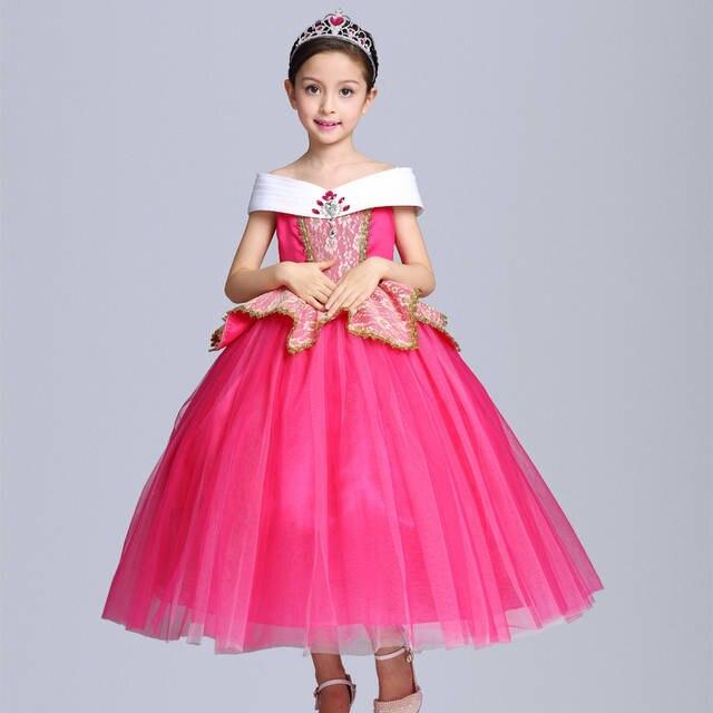 placeholder 2017 New Fashion Girl Aurora Dress Children Sleeping Beauty Princess  Costume Kids Party Dress Girls Ball 1bfea38880d7