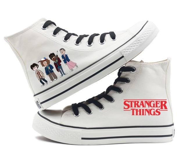 d0773c160287 New Stranger Things Eleven 11 DEMOGORGON printing canvas shoes Men Women  Boys Girls Unisex high-top flat canvas shoes 2colors