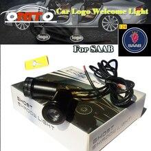 Автомобильные аксессуары led дверь логотип автомобиля приветствуется лампы auto лазерный проектор для Saab 9-3 9- 5 93 95 BJ SCS Тюнинг автомобилей