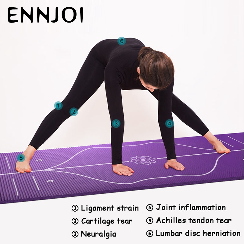 Position Line Premium Yoga Mats Tasteless Non Slip