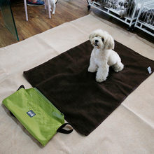 100x70cm Outdoor Pet Dog Bed Foldable Dog Cat Mats Soft Portable Pet Cushion For Medium Large Dog Waterproof Travel Blanket(China)