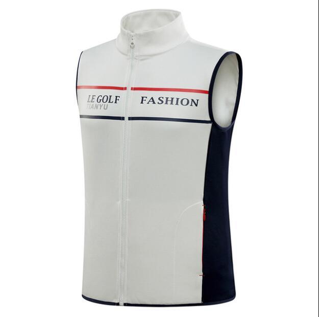 Vestuário de Golfe dos Homens Colete de lã Quente dos Homens Tops sem Mangas do Revestimento Outono Inverno Novo Colete Sportwear M-2xl 2019