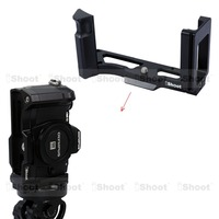 iShoot Removable Metal L shaped Vertical Quick Release Plate/Camera Holder Bracket Grip for Olympus OM D E M10 Tripod Ballheads