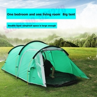 2019 3 4 Person 1 Bedroom 1 Living Room 2 Layer Tunnel Family Anti Rain Party Hiking Travel Beach Fishing Outdoor Camping Tent
