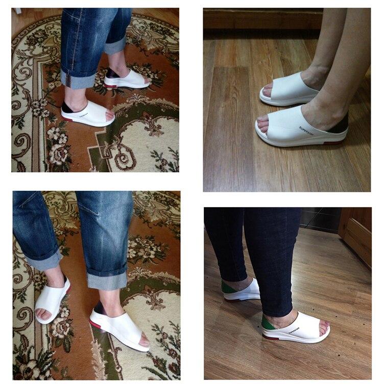 HTB1feQMUmzqK1RjSZFHq6z3CpXaw 2019 New Fashion Women Sandals Summer Platform Sandal Shoes Woman Peep Toe Leather Beach Flat Casual Sandalias Mujer Plus Size