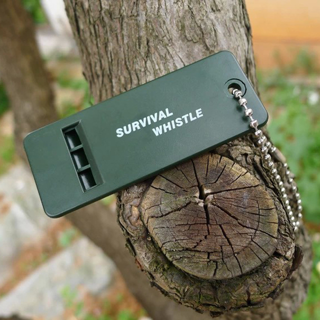 Rescue Survive signal sound Whistle camp hike outdoor emergent sport referee first aid kit decibel lifesave soccer baseball