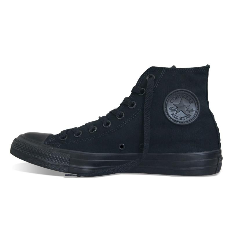 D'origine Converse all star chaussures hommes femmes sneakers toile chaussures tous les noir haute classique de Planche À Roulettes Chaussures livraison gratuite - 4