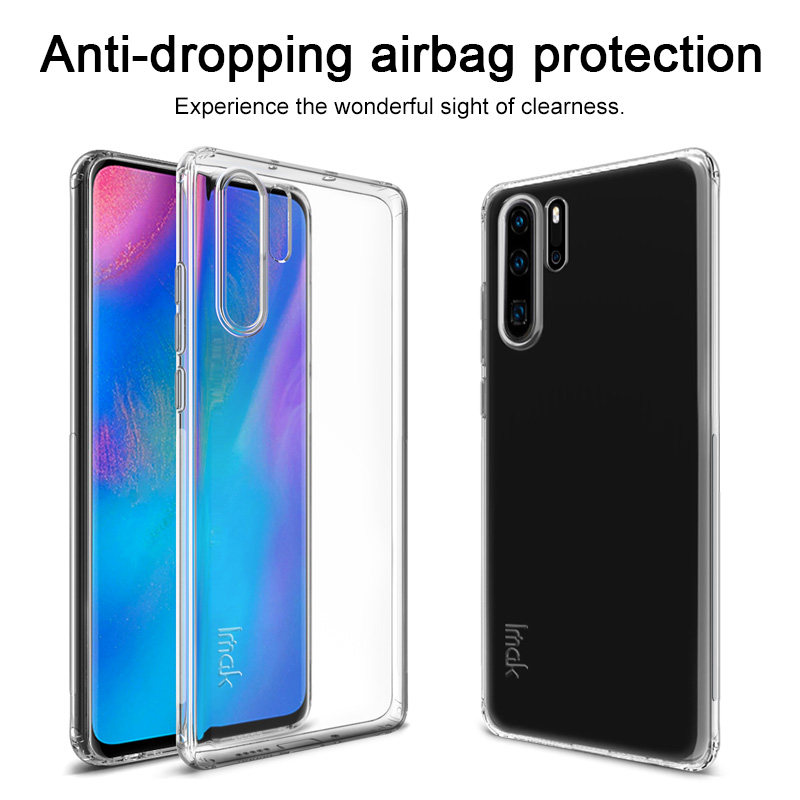 Imak Tiny Airbag Shockproof Design TPU Surround Back Cover Case For Huawei P30 P30 Lite P30 Pro Soft Case with Side Anti skid in Fitted Cases from Cellphones Telecommunications